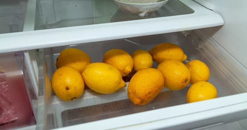 how to store lemons in the refrigerator