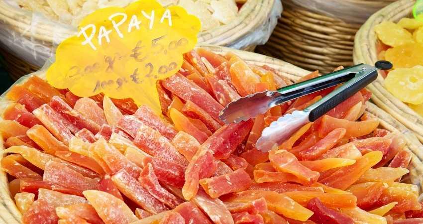 dry cut papaya