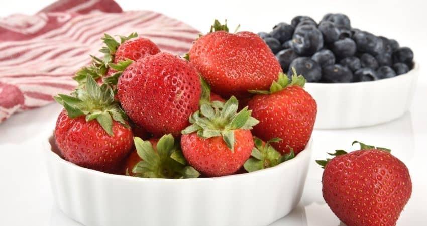 strawberries versus blueberries